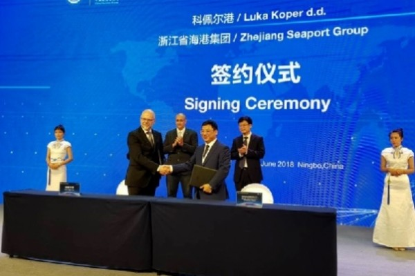 Port of Koper and Ningbo Zhoushan Port Group signed a Memorandum of understanding